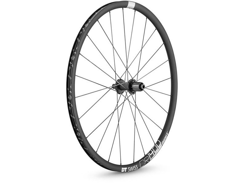 DT Swiss CR 1400 DICUT disc brake wheel, clincher 25 x 22 mm, rear click to zoom image